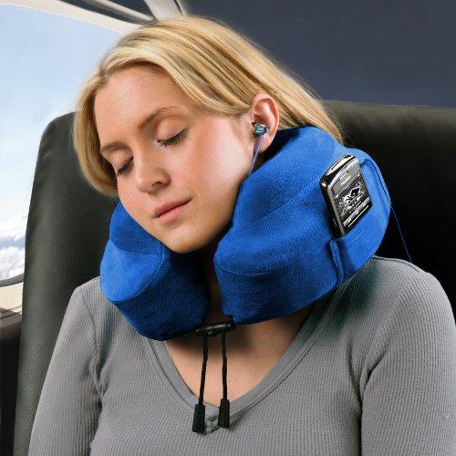 "CABEAU Memory Foam ""Evolution Pillow"" +Small Bag – Travel Pillow Actually Works!"