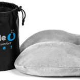 Best Travel Neck Pillow – Airplane Pillow – Perfect For Average to Plus Size Neck – Awesome Holiday Gift – Memory Foam Travel Pillow – Travel Pillow Comes with Free Space Saver Carry Bag