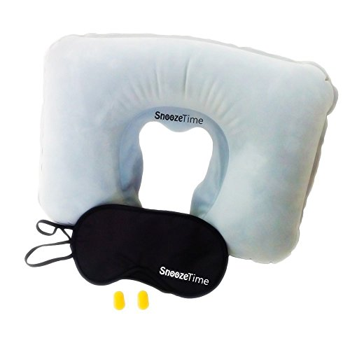 Travel Inflatable Pillow Full Sleep Set Neck Wedge Pillow By