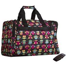 World Traveler Zebra Print Collection Travel Duffle Bag