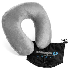 Best Travel Neck Pillow - Airplane Pillow - Perfect For Average to Plus Size Neck - Awesome Holiday Gift - Memory Foam Travel Pillow - Travel Pillow Comes with Free Space Saver Carry Bag