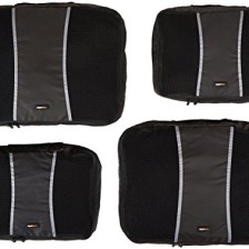 AmazonBasics Packing Cubes - 2 Medium and 2 Large (4-Piece Set)